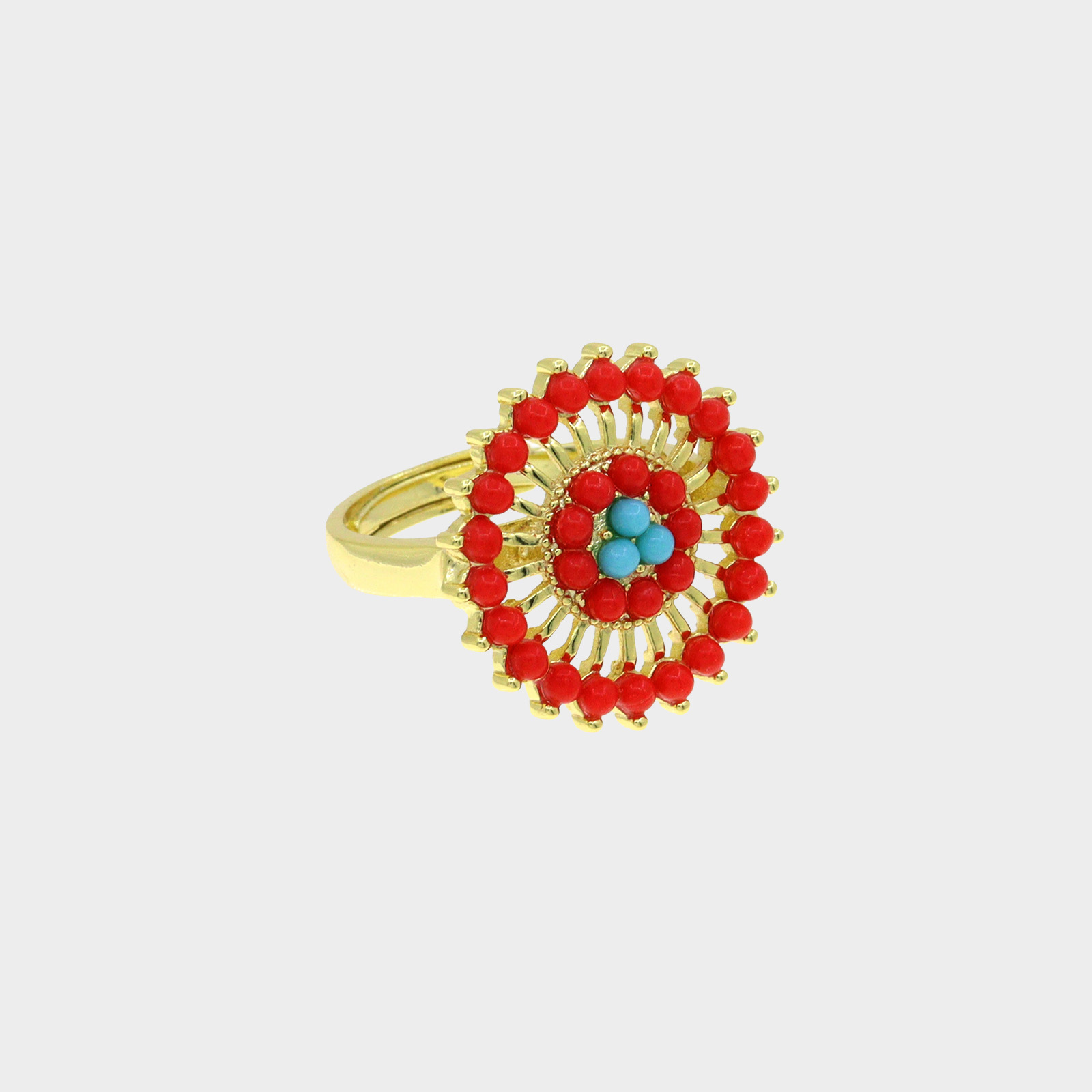 The Ring Amazon Flower Red