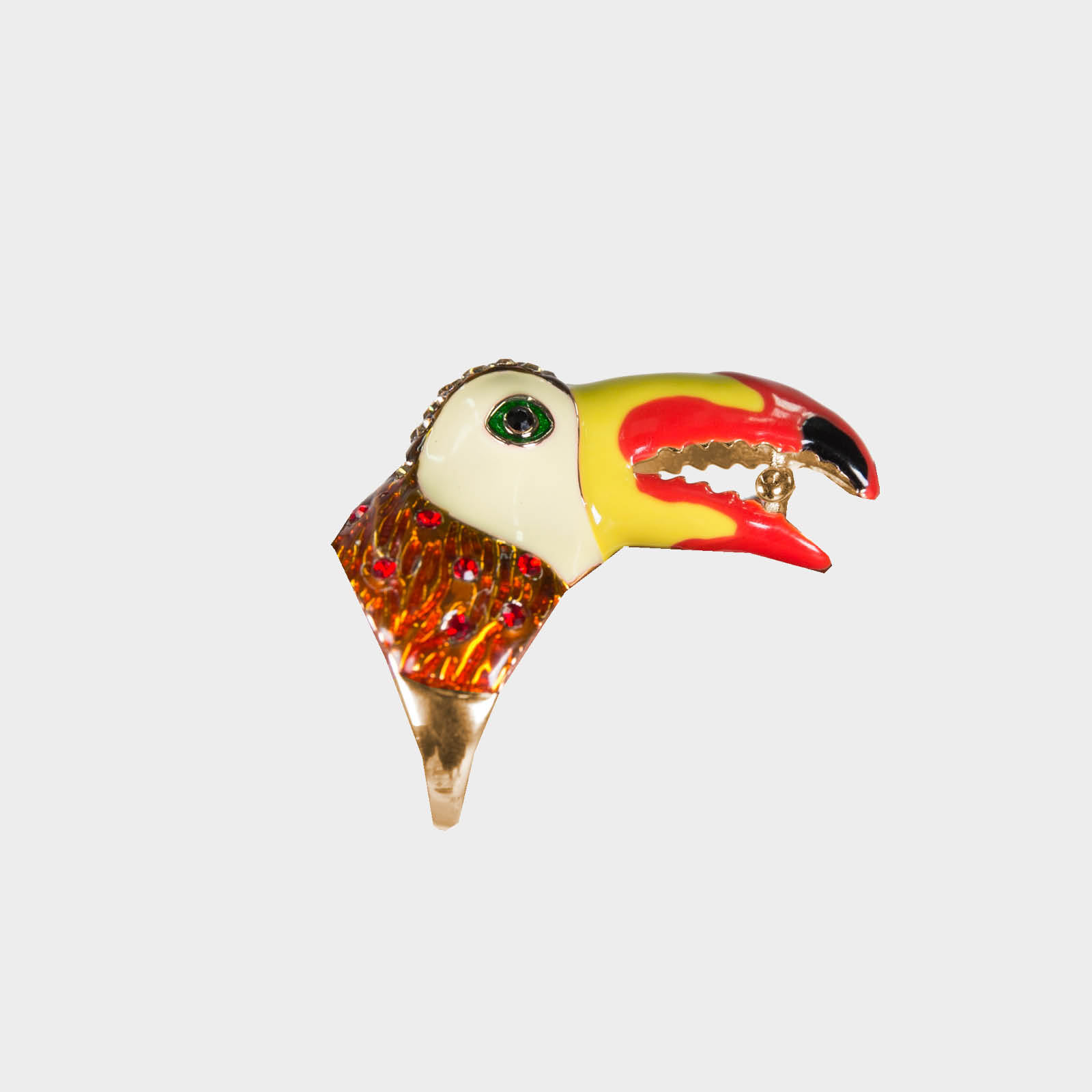 Red Amazon Toucan Ring