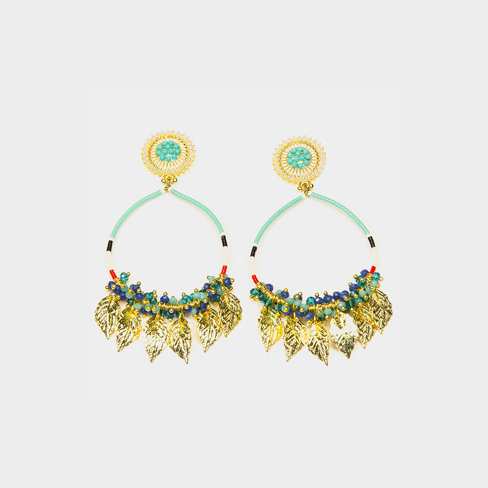 Amazon Maria Hoop Earrings Turquoise