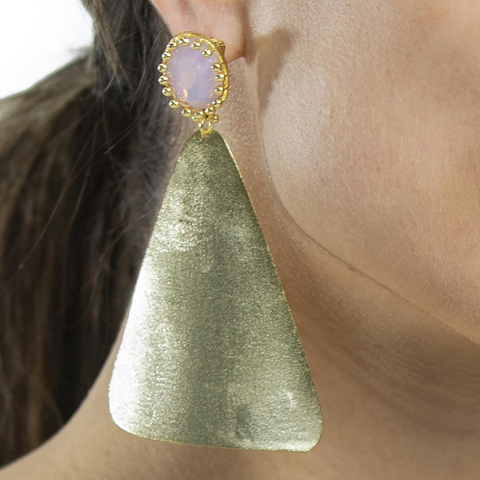 Earrings Irish Nature Stone Pink