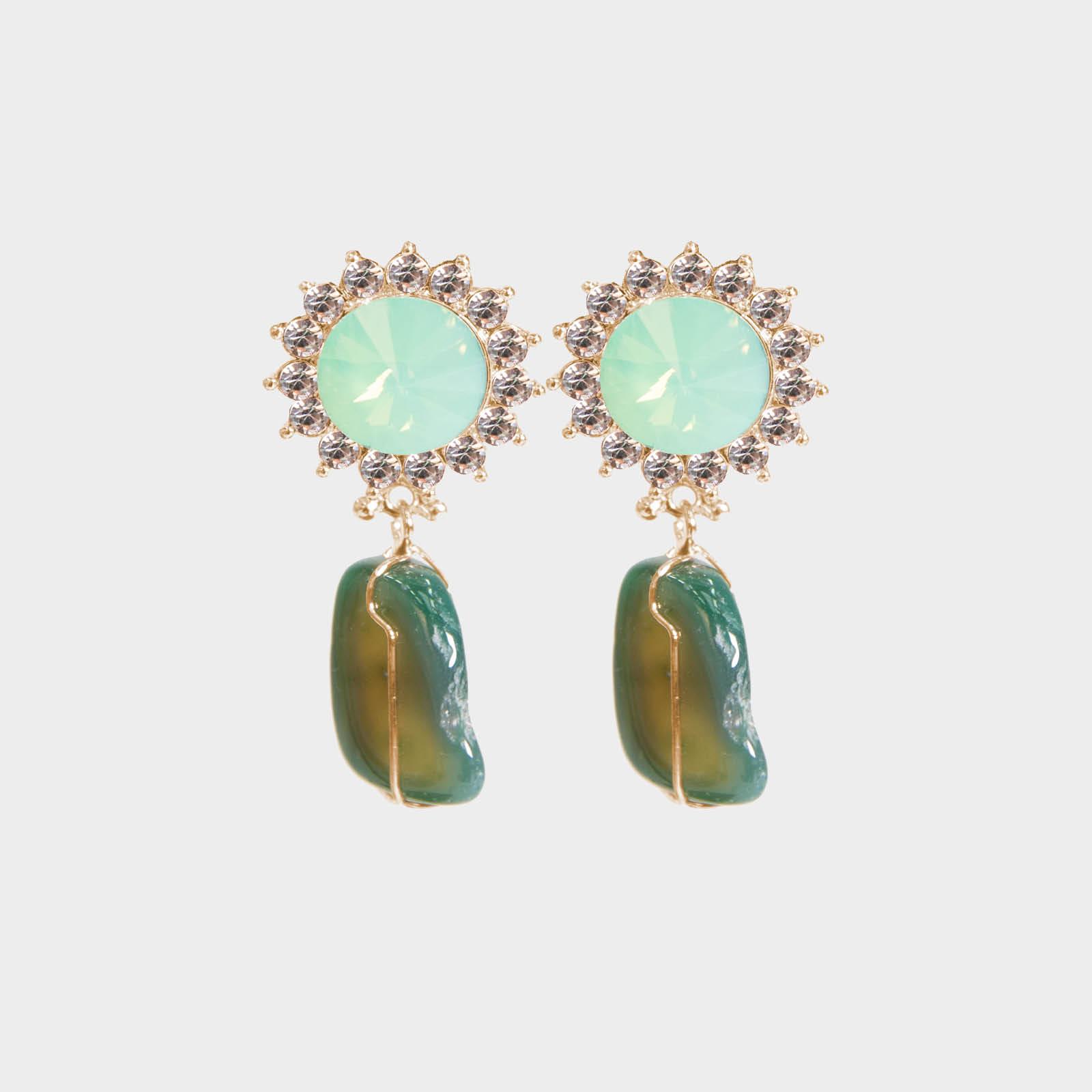 Jade Marilyn Stone Earrings