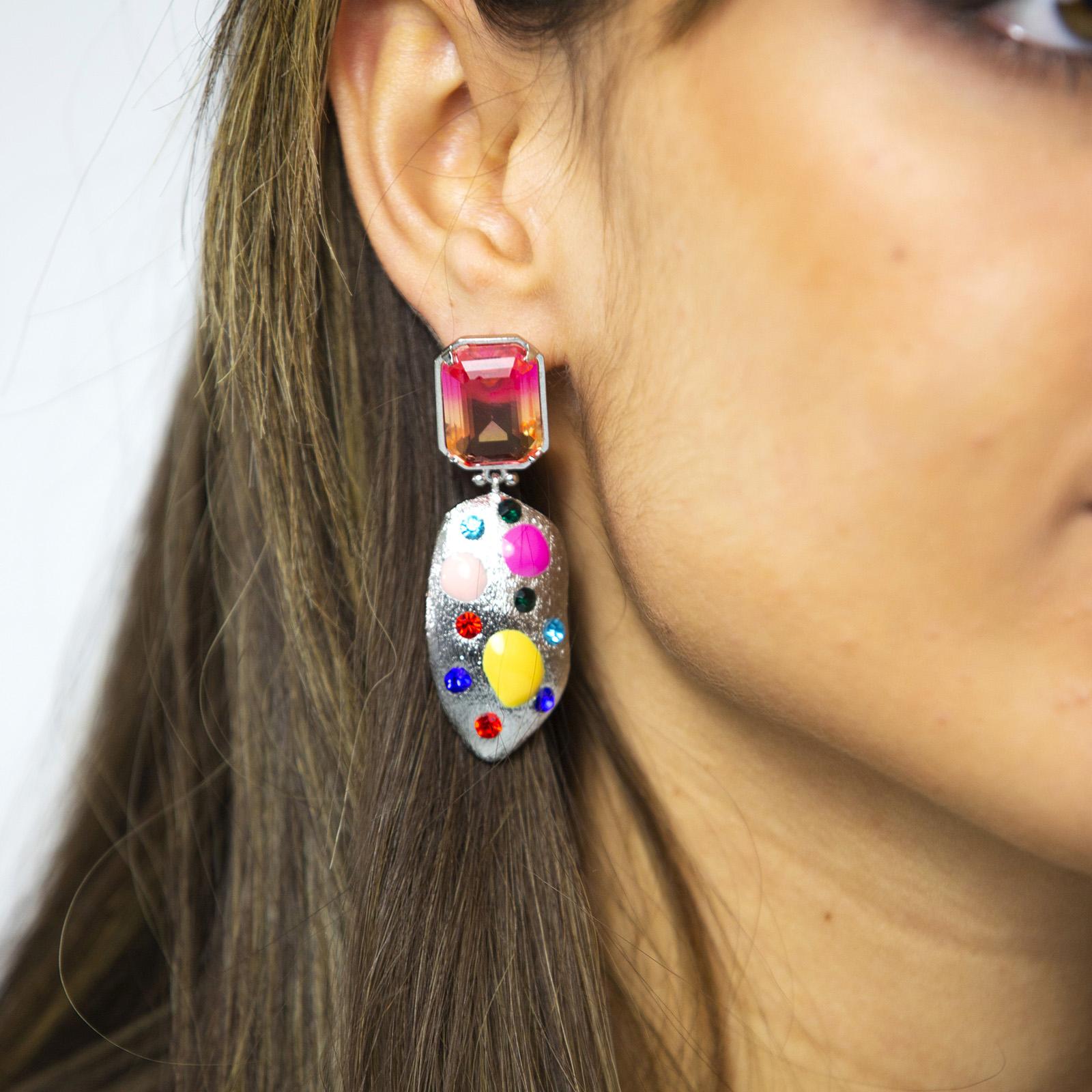 Fantasy Pink Earrings