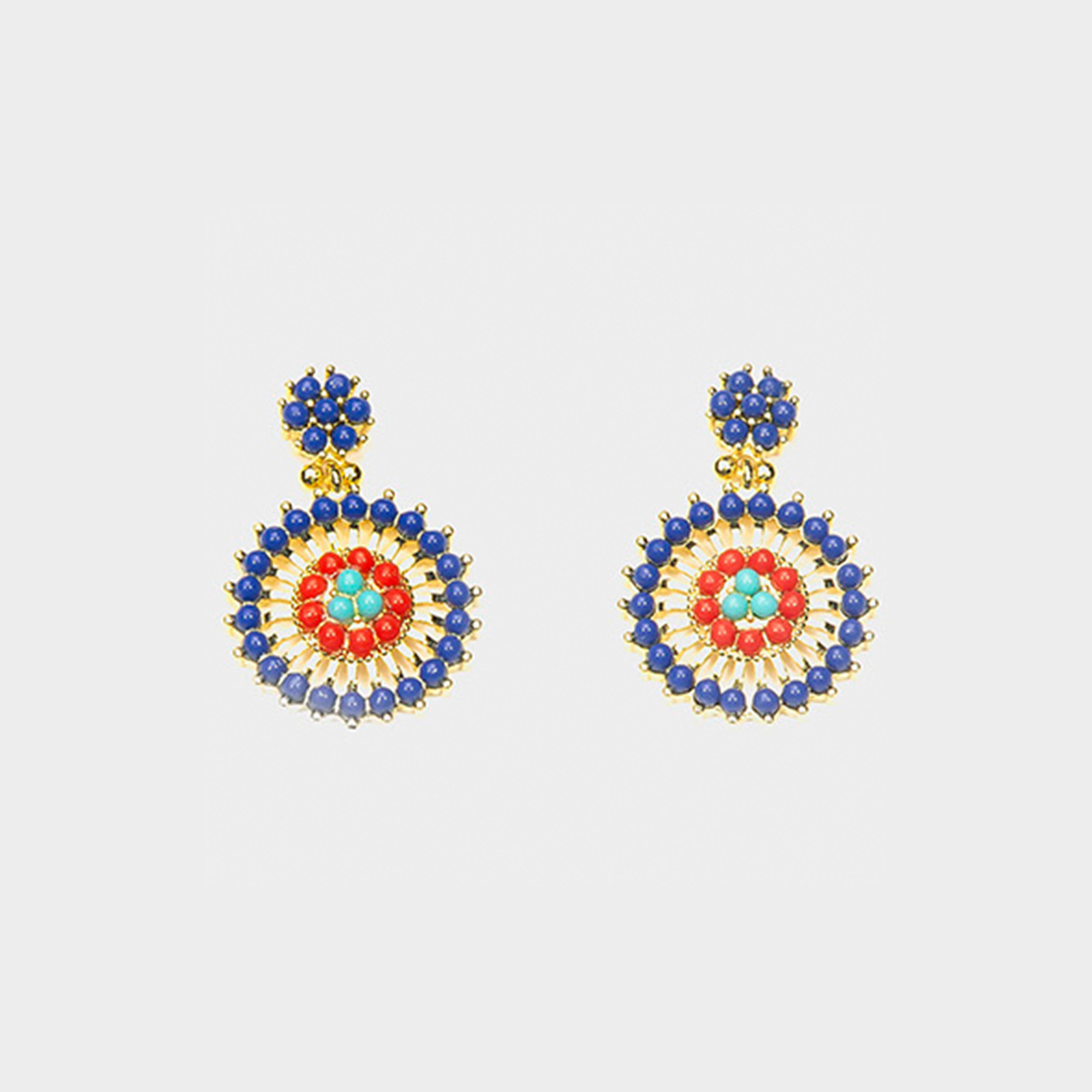 Earrings Amazon Flower Blue