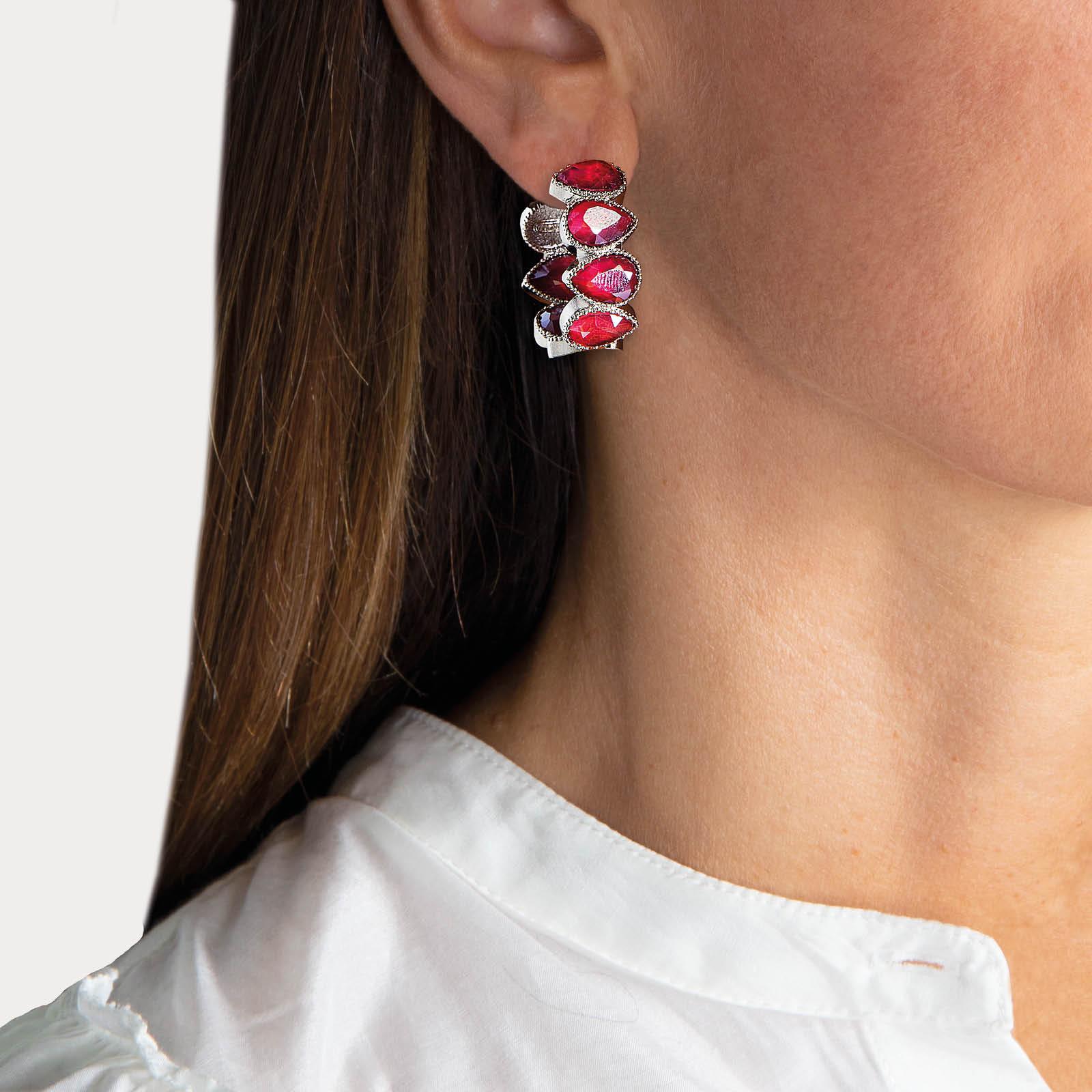 Magic Pink Small Hoop Earrings