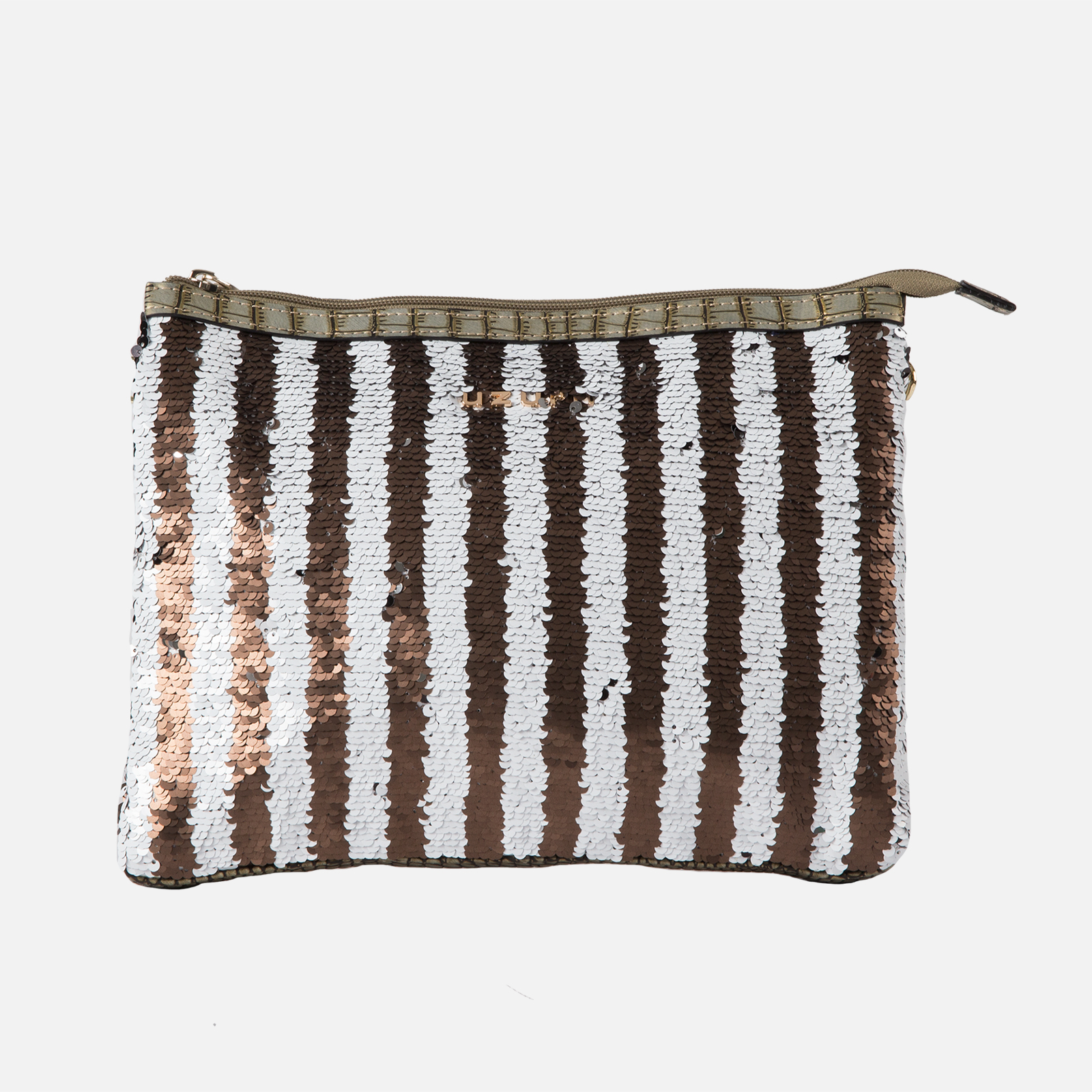 Clutch White/Taupe
