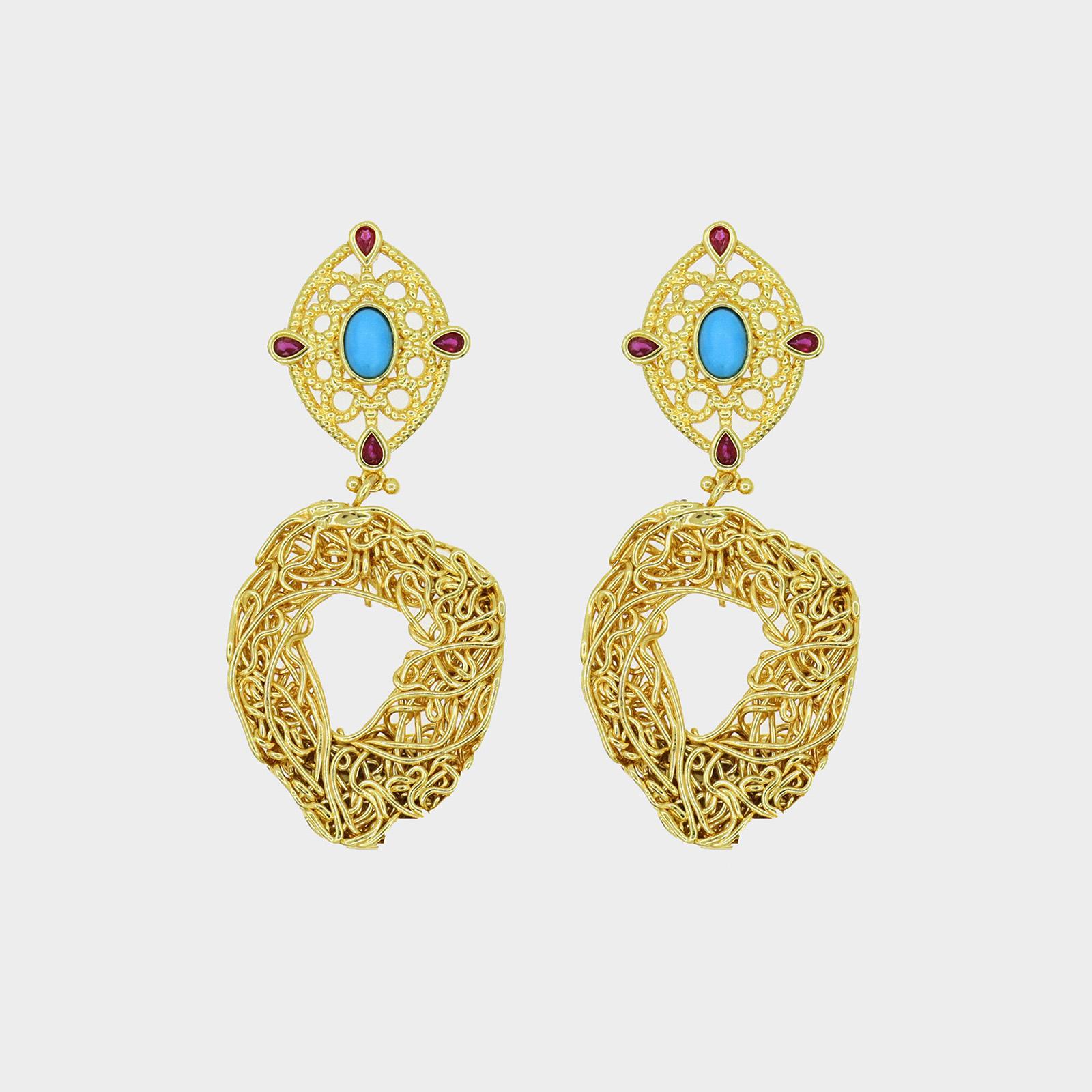 Earrings Niu Blau