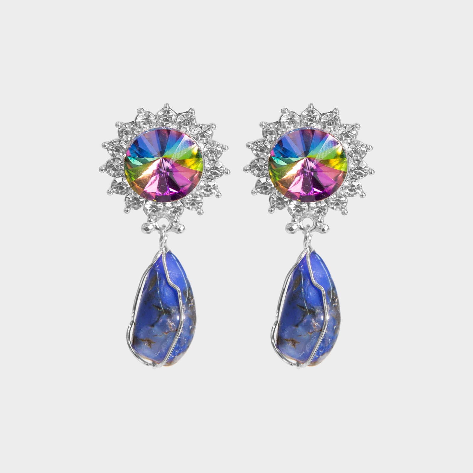 Colorful Marilyn Stone Earrings