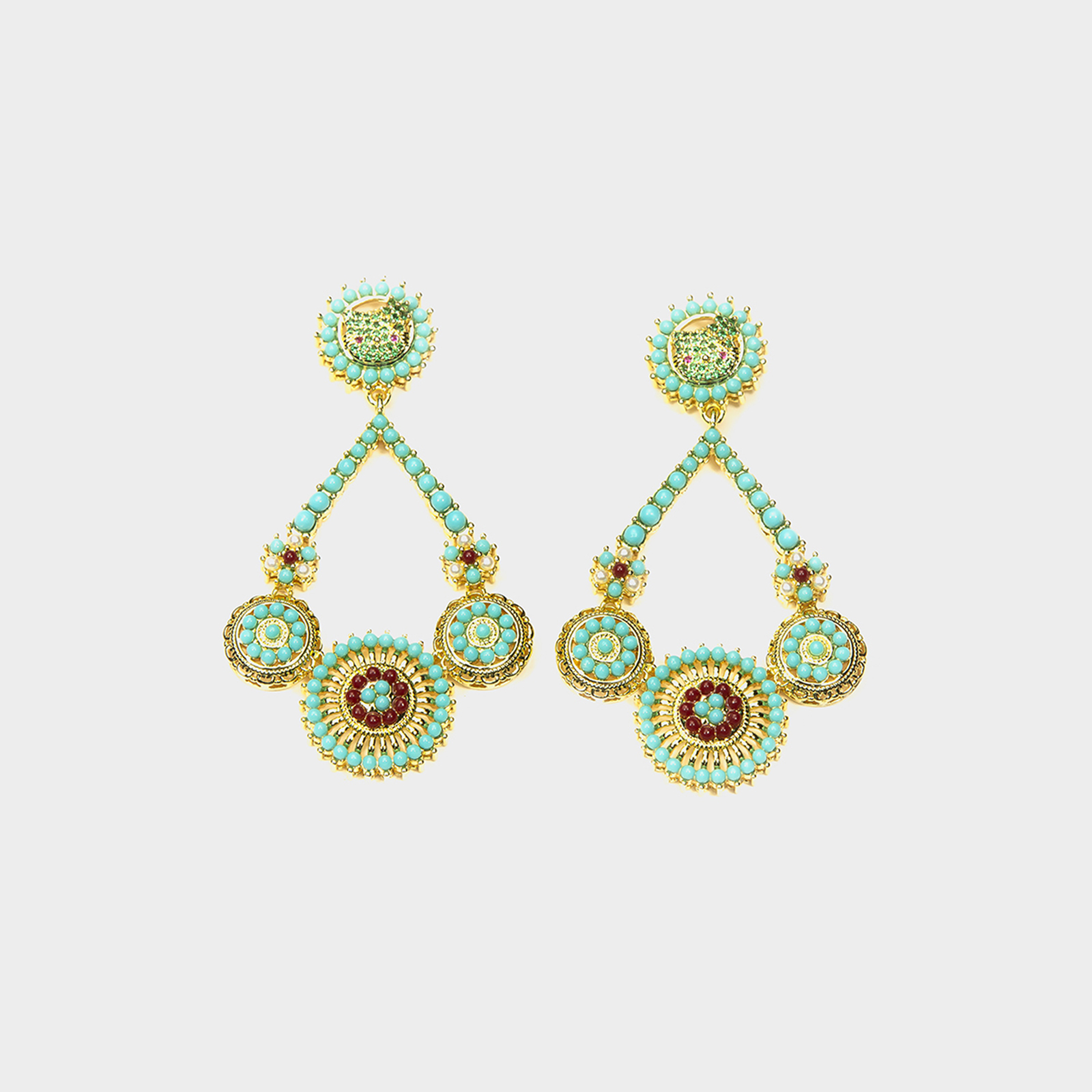 Amazon Ibiza Earrings Turquos