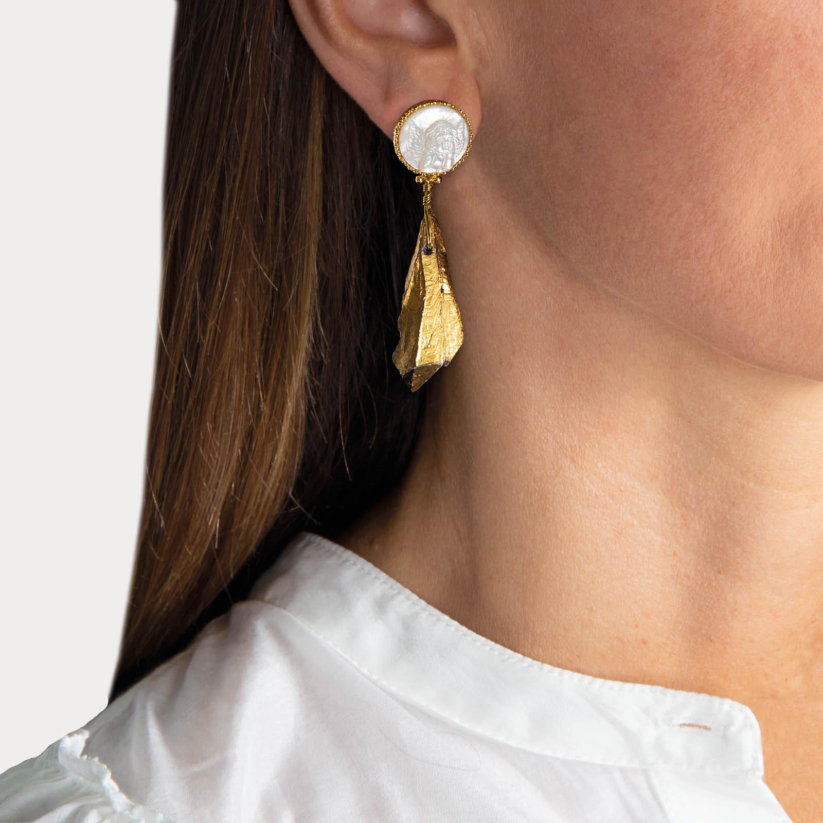 Angel Agate Earrings