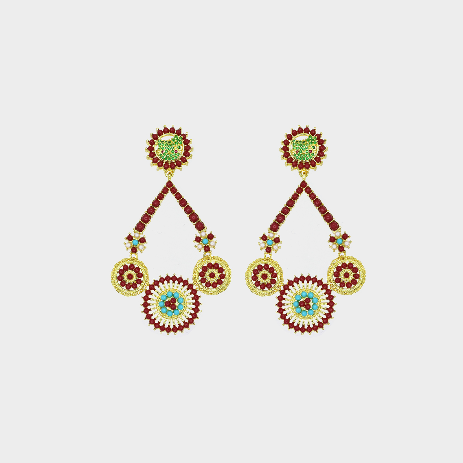Amazon Ibiza Earrings Red
