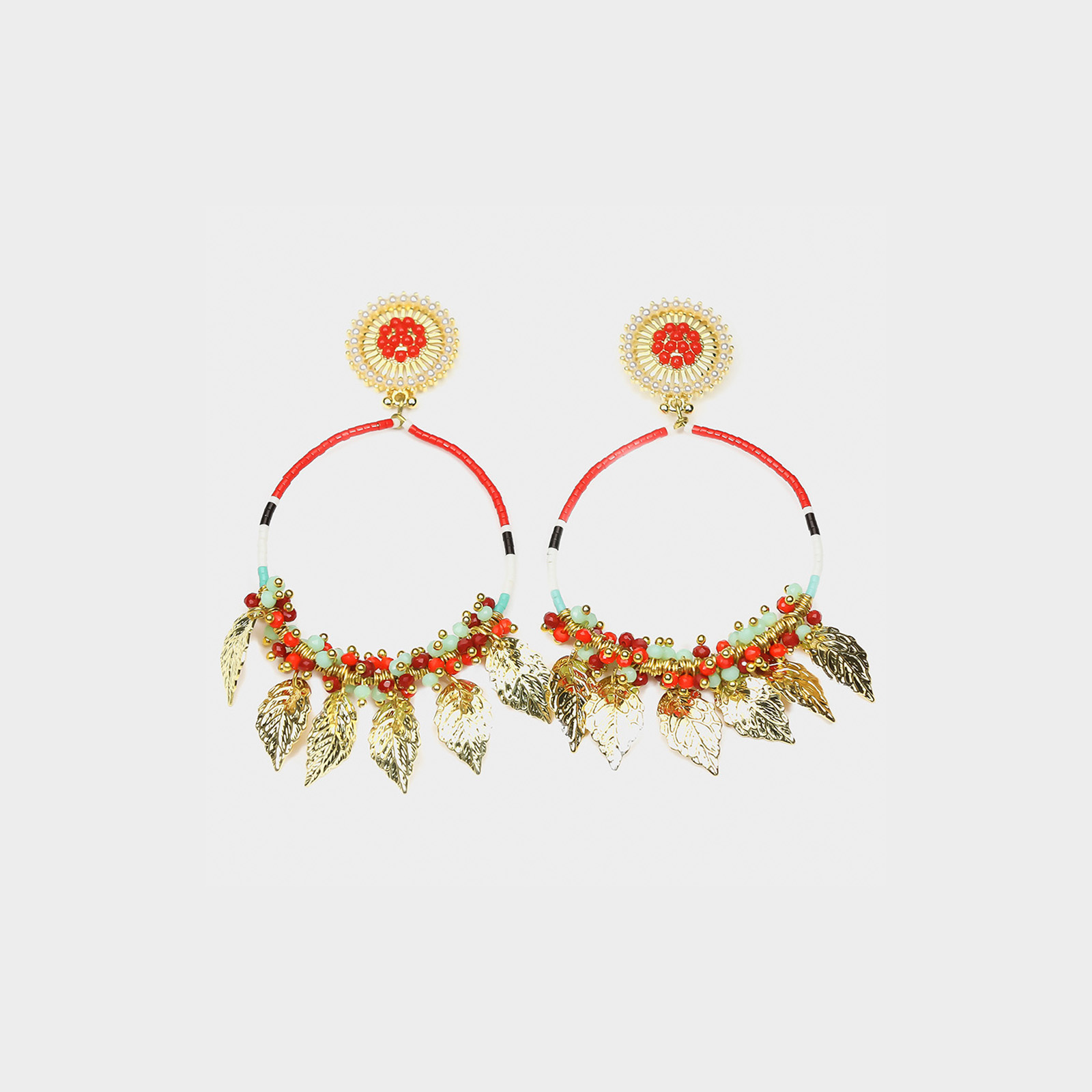 Amazon Maria Hoop Earrings Red