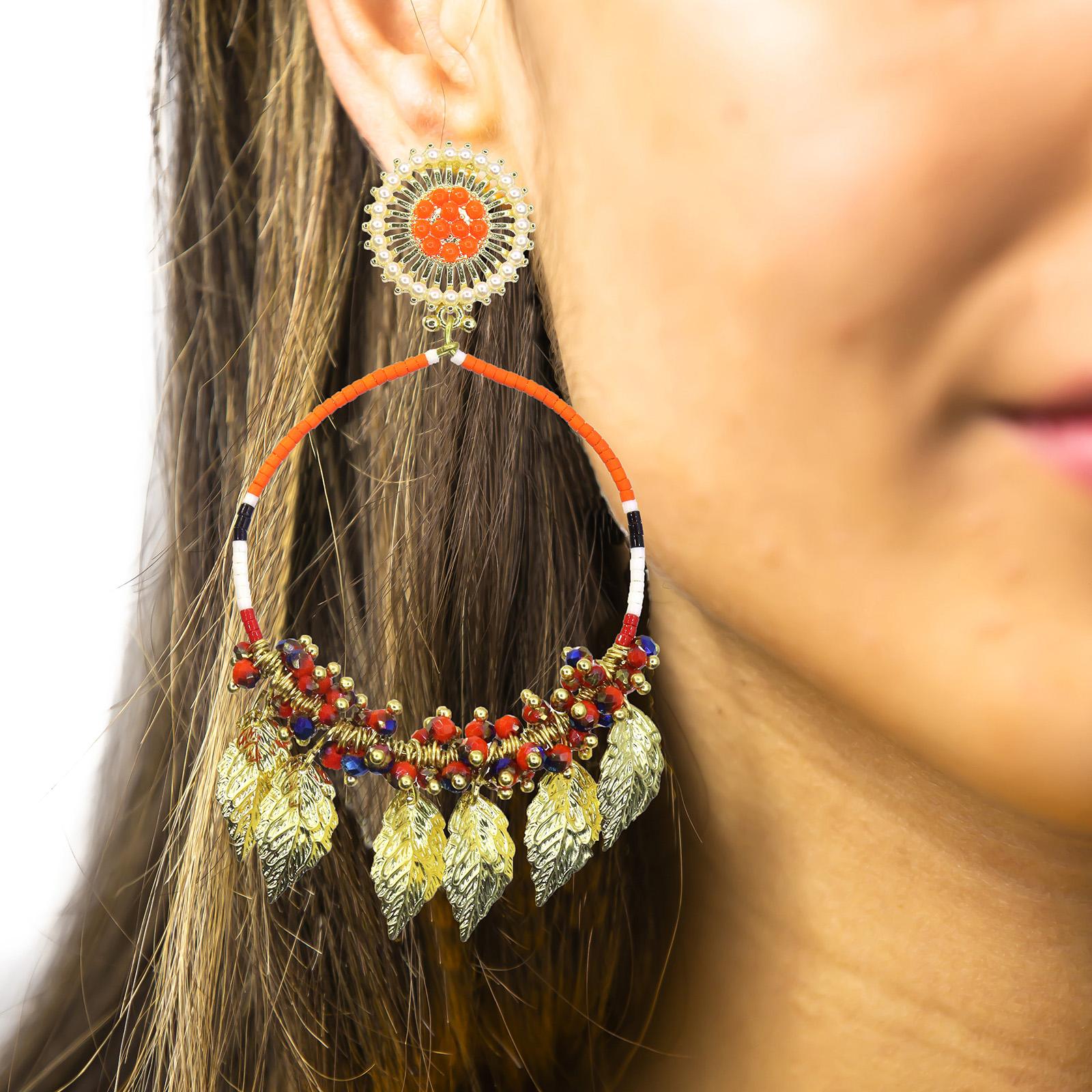 Amazon Maria Hoop Earrings Orange