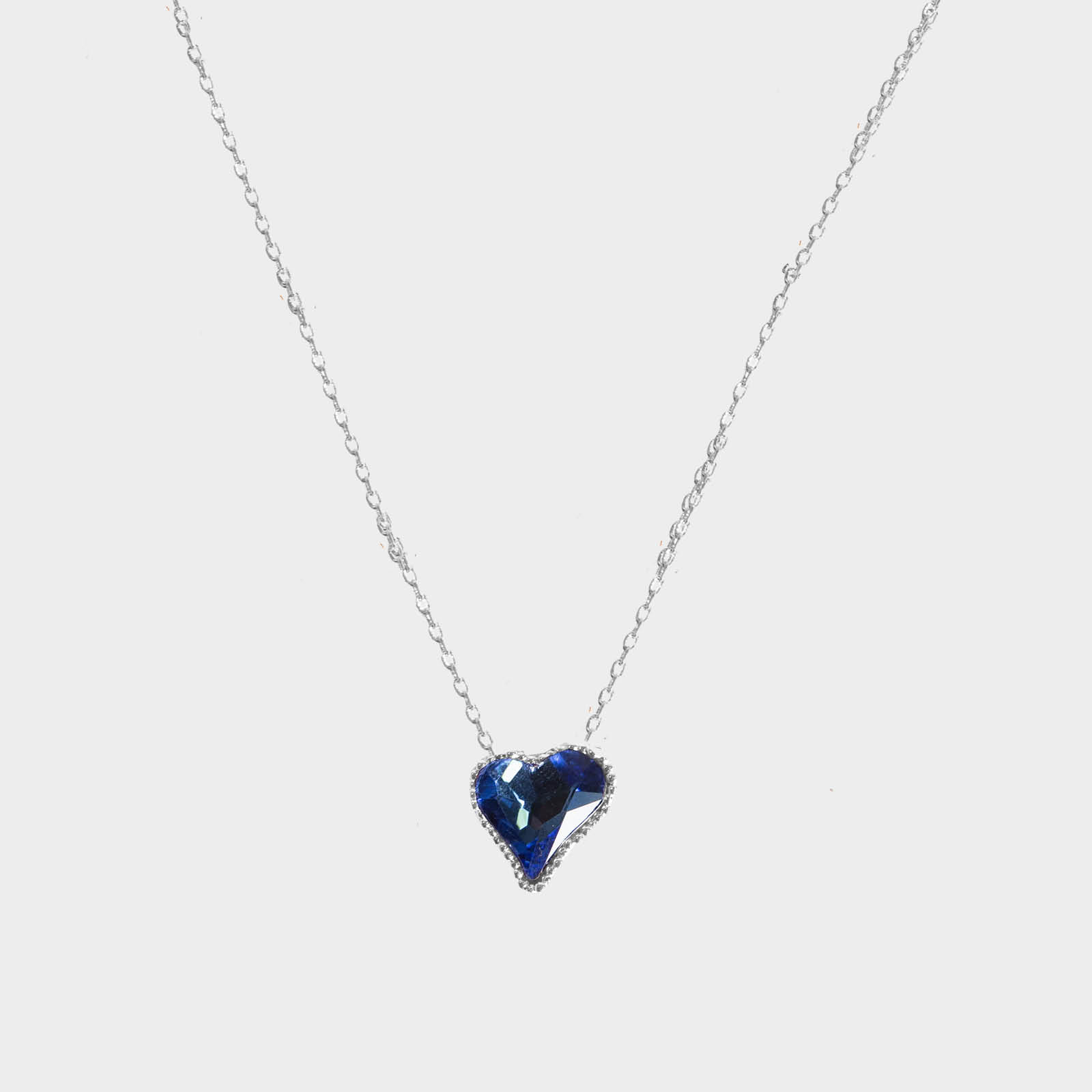 Single Blue Heart Necklace