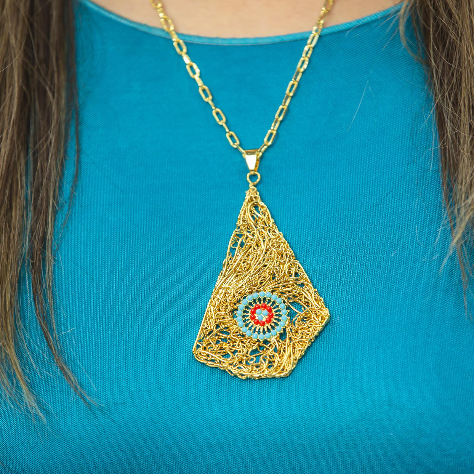 Niu Blau Flowers Necklace